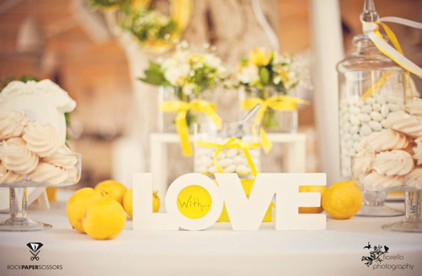 lemon summer wedding