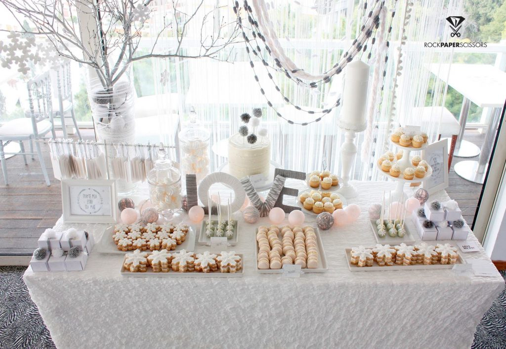 wedding wish and candy table