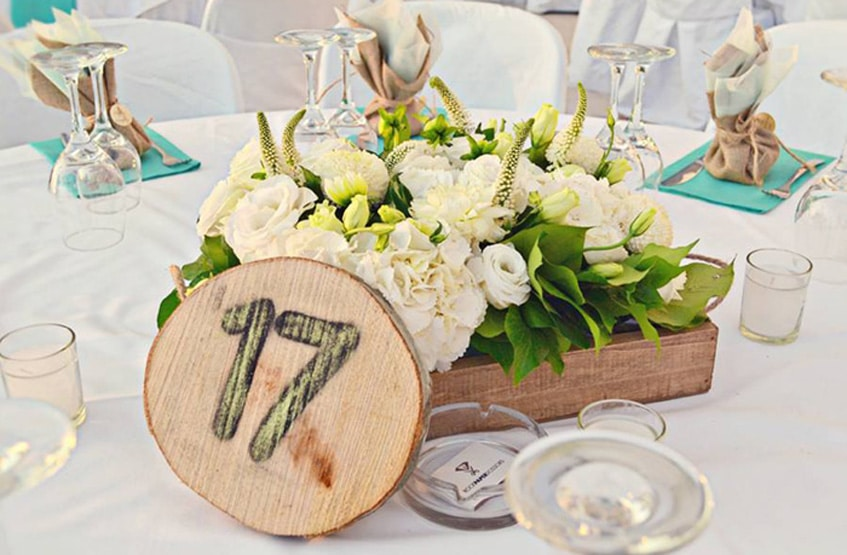 wedding guests table numbering