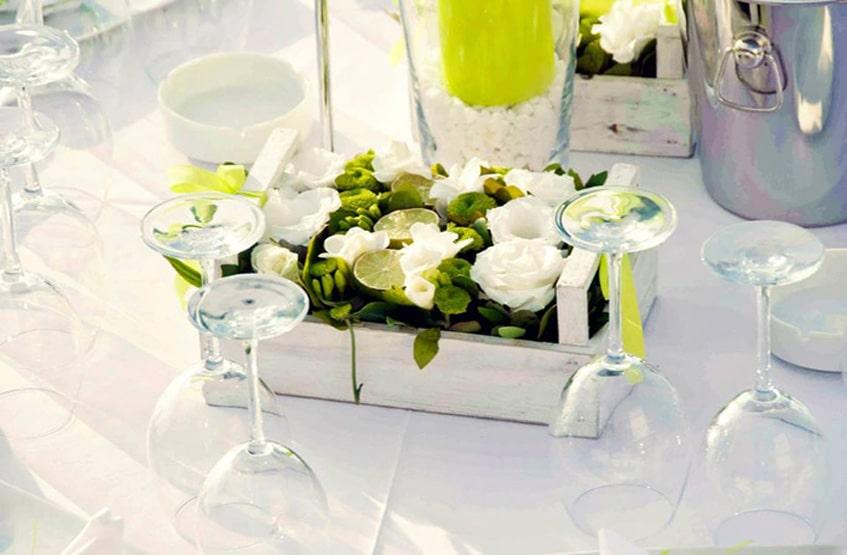 yellow wedding flower decoration
