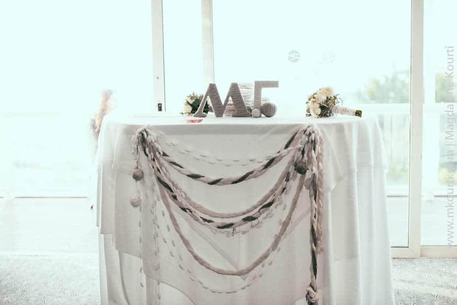 winter wedding table decoration