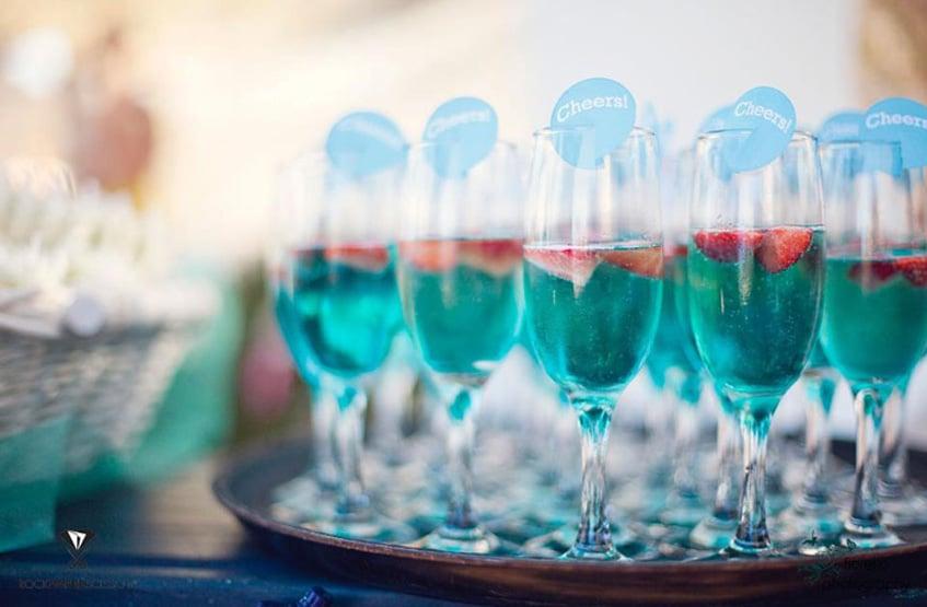 summer wedding welcome drink