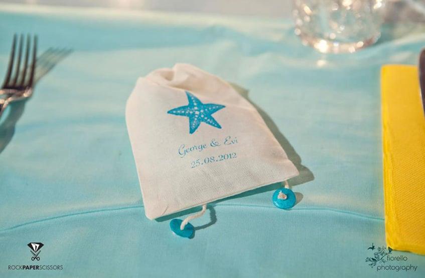 summer wedding guest pouch favor