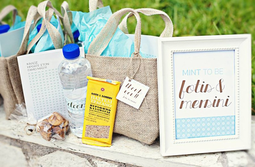 island wedding guest goodie bags