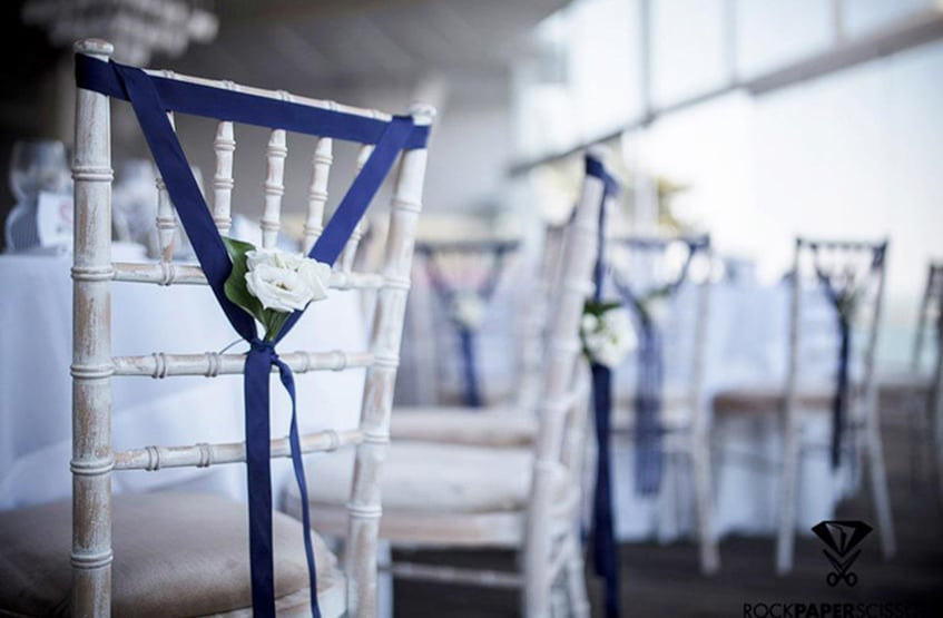 wedding guests' chair decoration