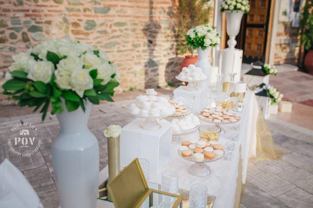 γαμήλιο τραπέζι γλυκών