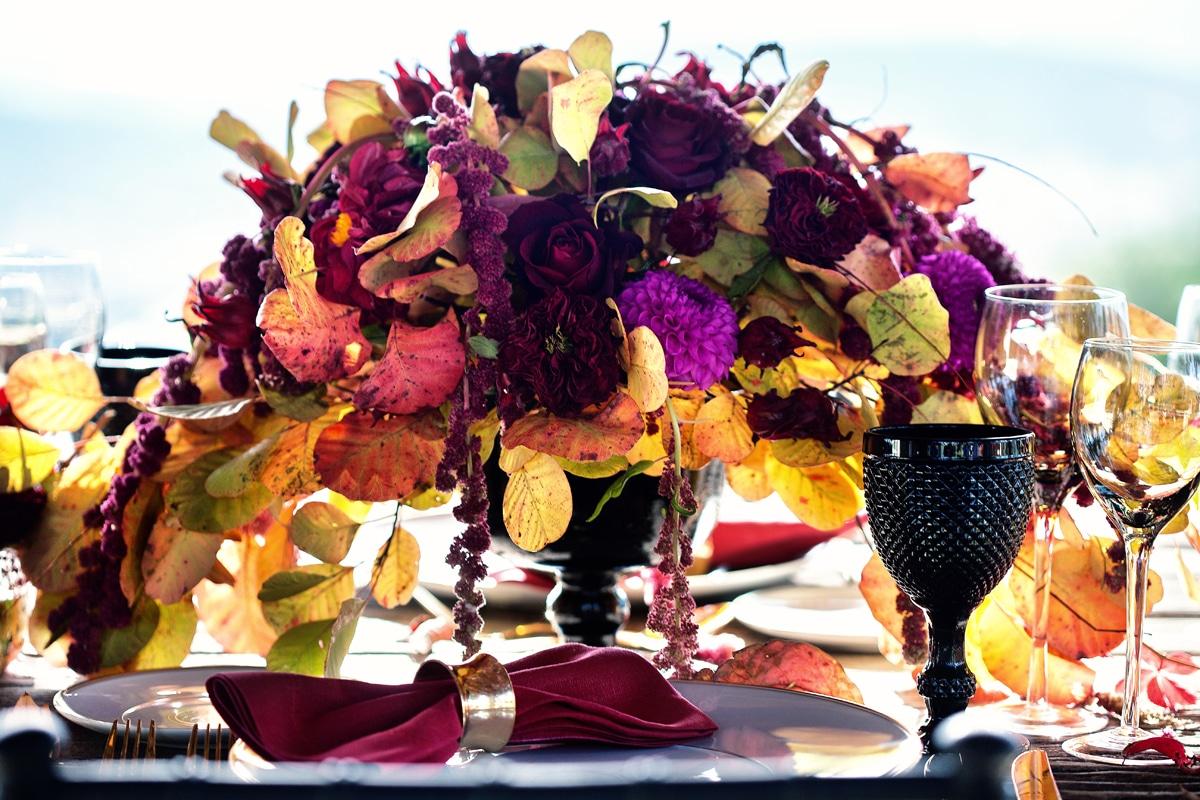 Φθινοπωρινή διακόσμηση γάμου