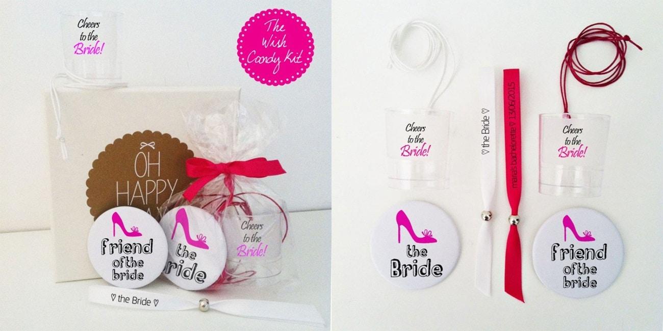 Bachelor candy party kit με δώρα για τη νύφη και τις φίλες της