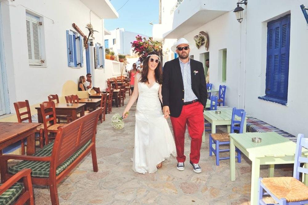 Boho γάμος στα Κουφονήσια