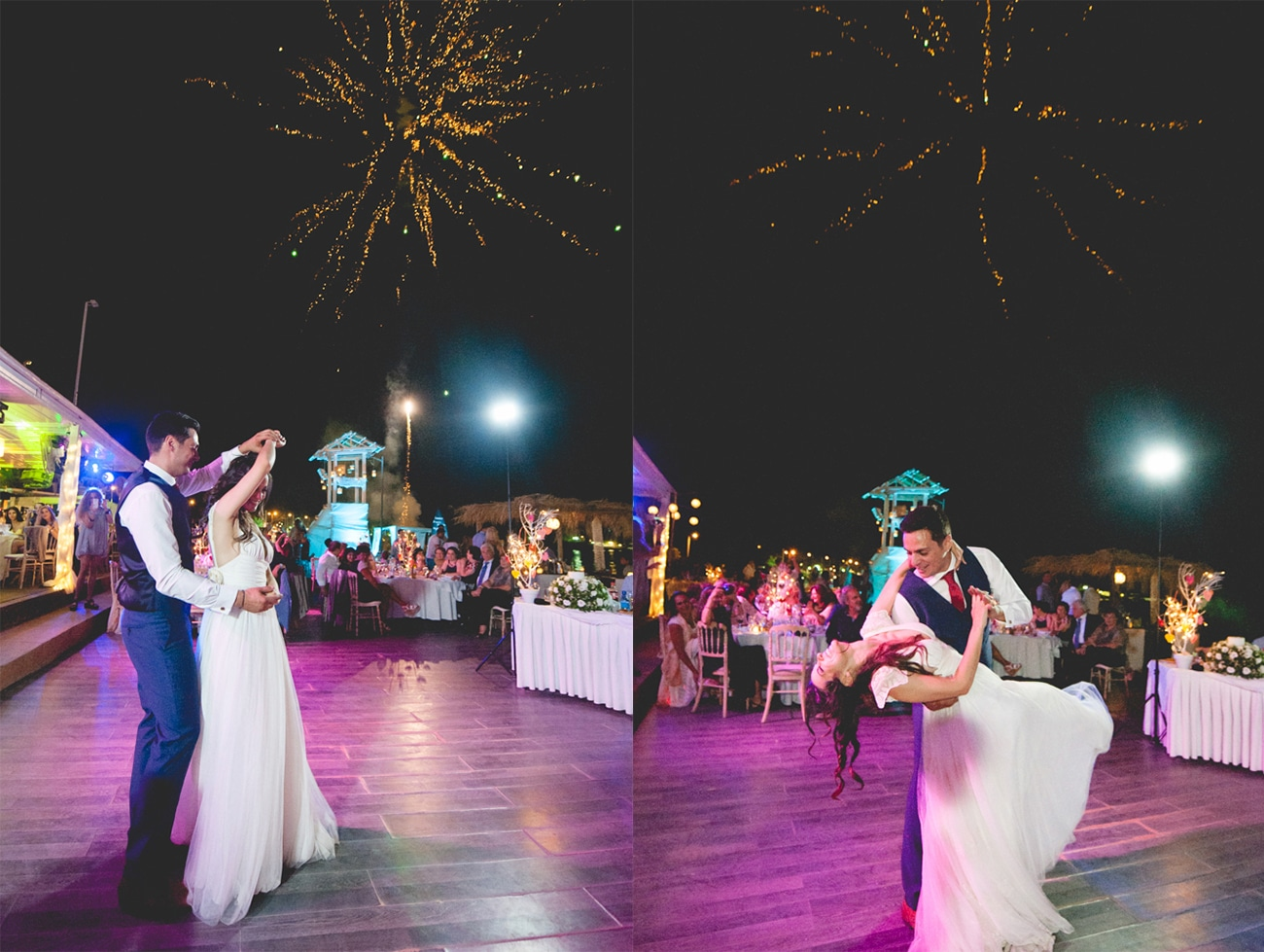Beach party wedding