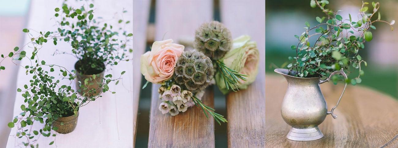 Σύνθεση γάμου με αγριολούλουδα