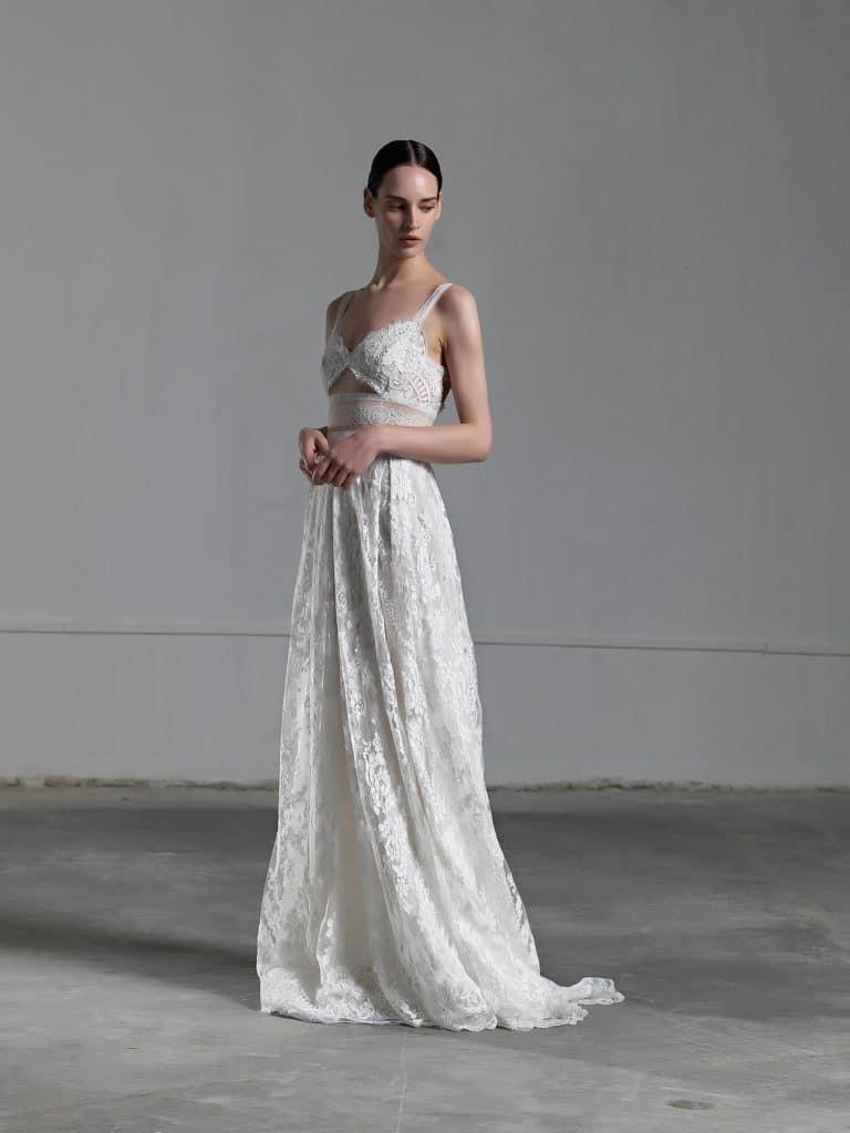 A line romantic tulle wedding dress Vasia Tzotzopoulou