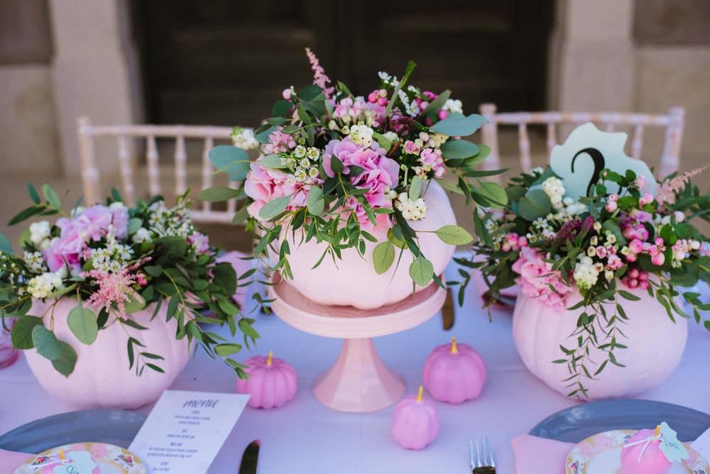 Trendy pink wedding decoration by phaedra liakou