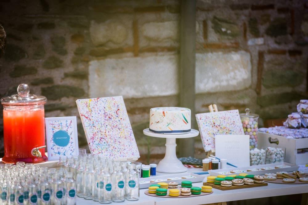 wish table and wedding dessert station