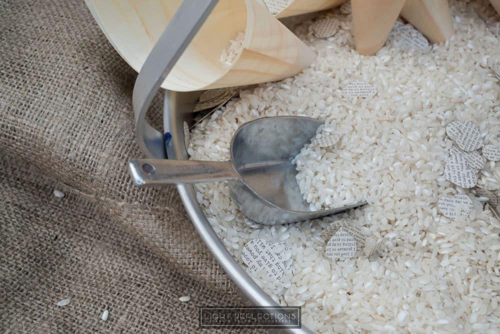 Διακόσμηση ρυζιού για την εκκλησία