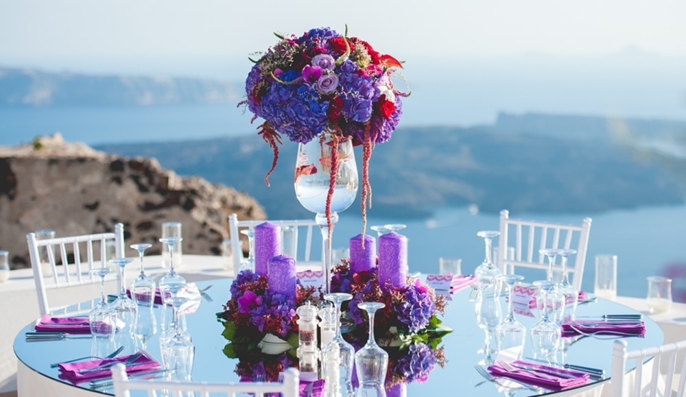 Purple red wedding inspiration