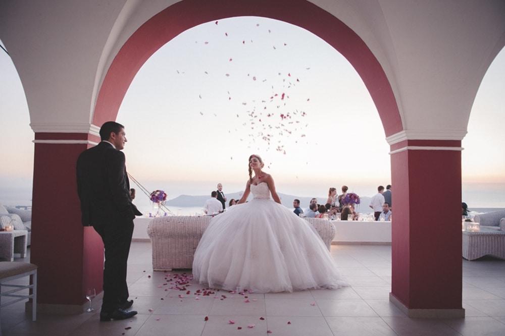 Μωβ κόκκινη έμπνευση γάμου