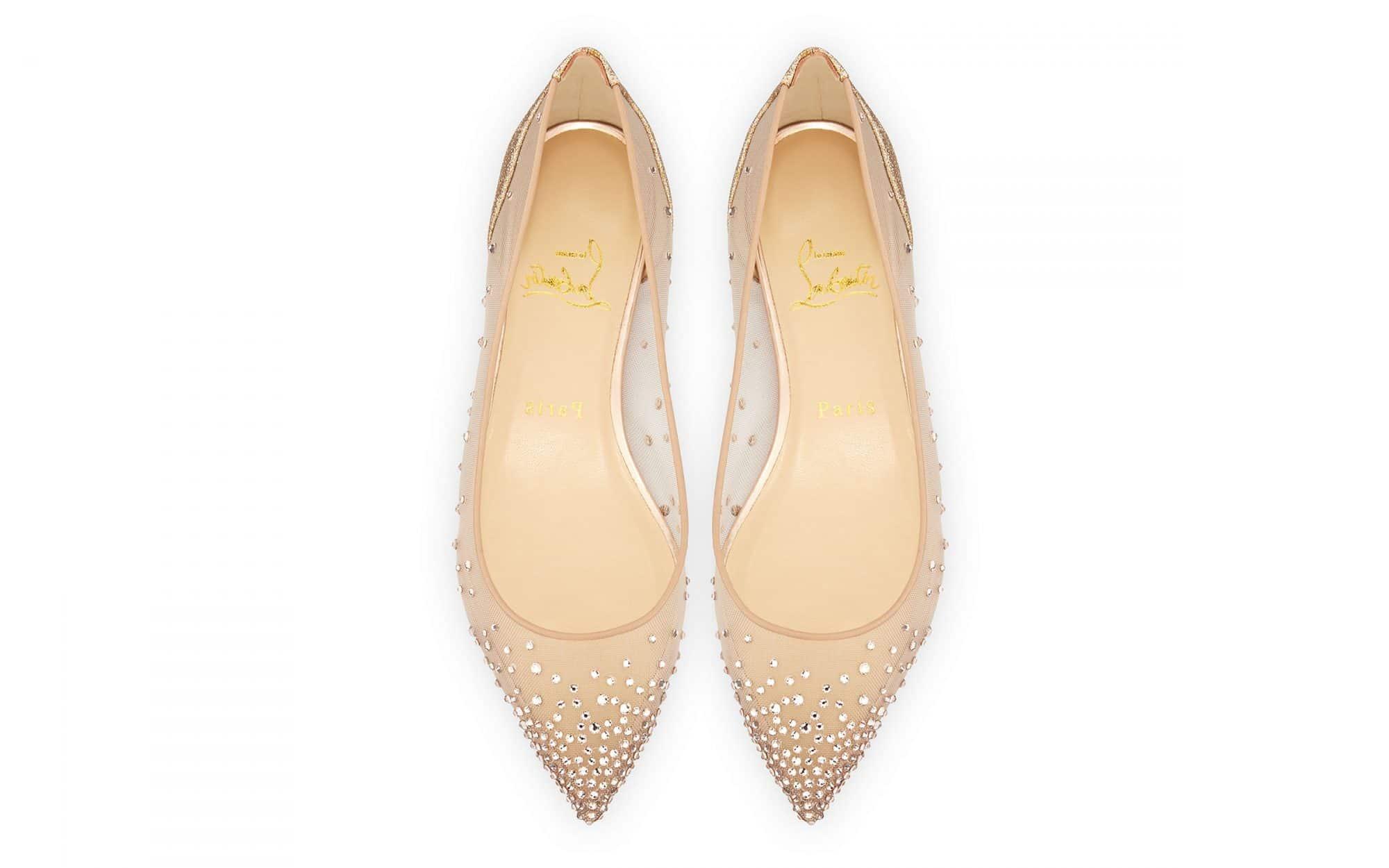 Flat νυφικά παπούτσια Christian Louboutin
