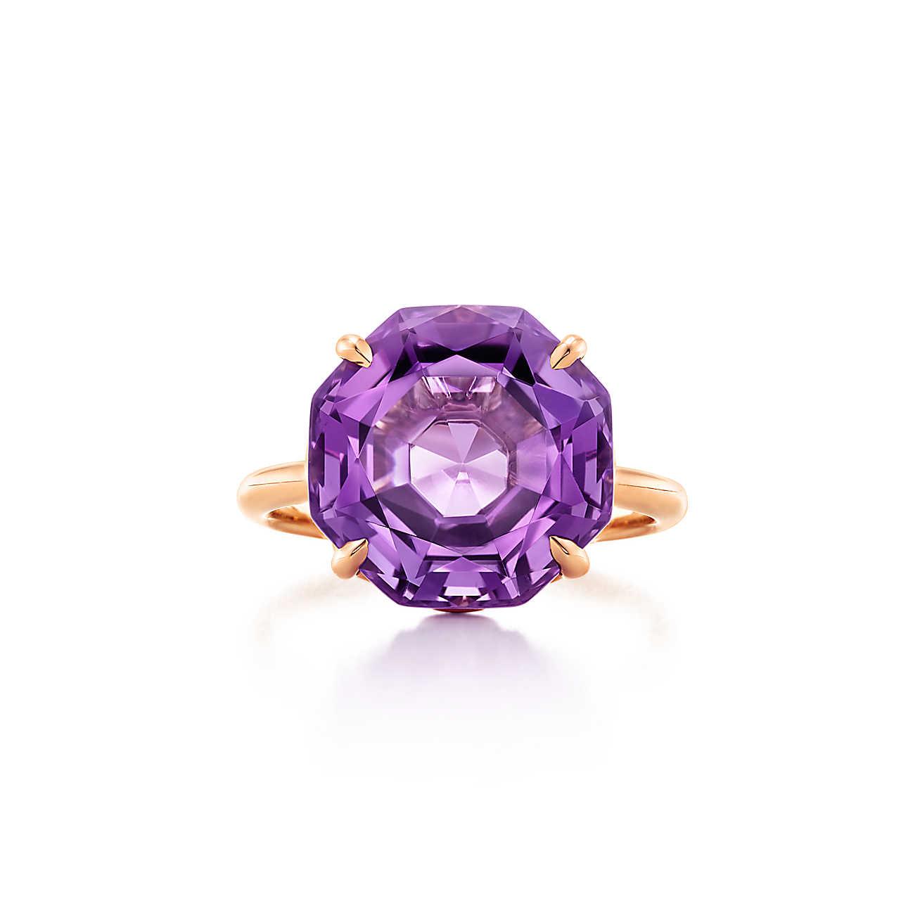 Μωβ μονόπετρο δαχτυλίδι Tiffany & Co.