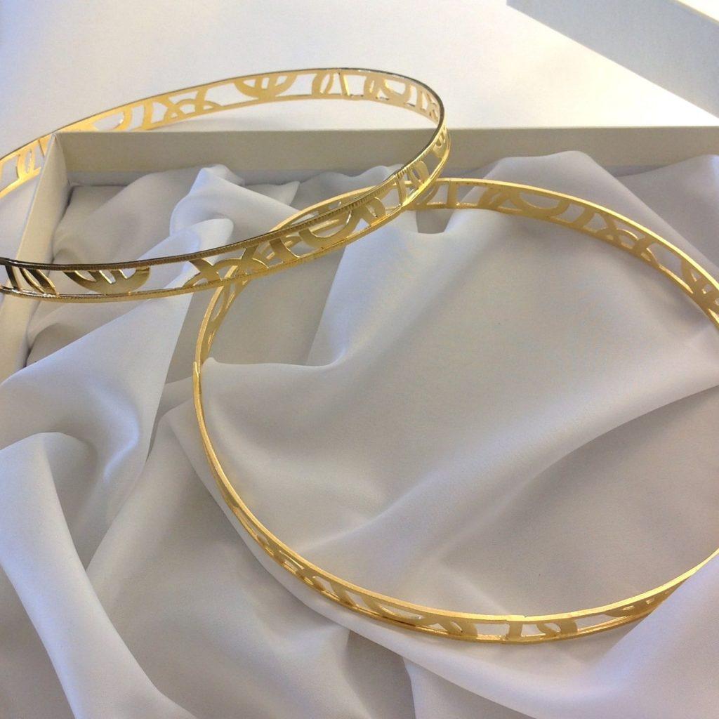gold wedding crowns