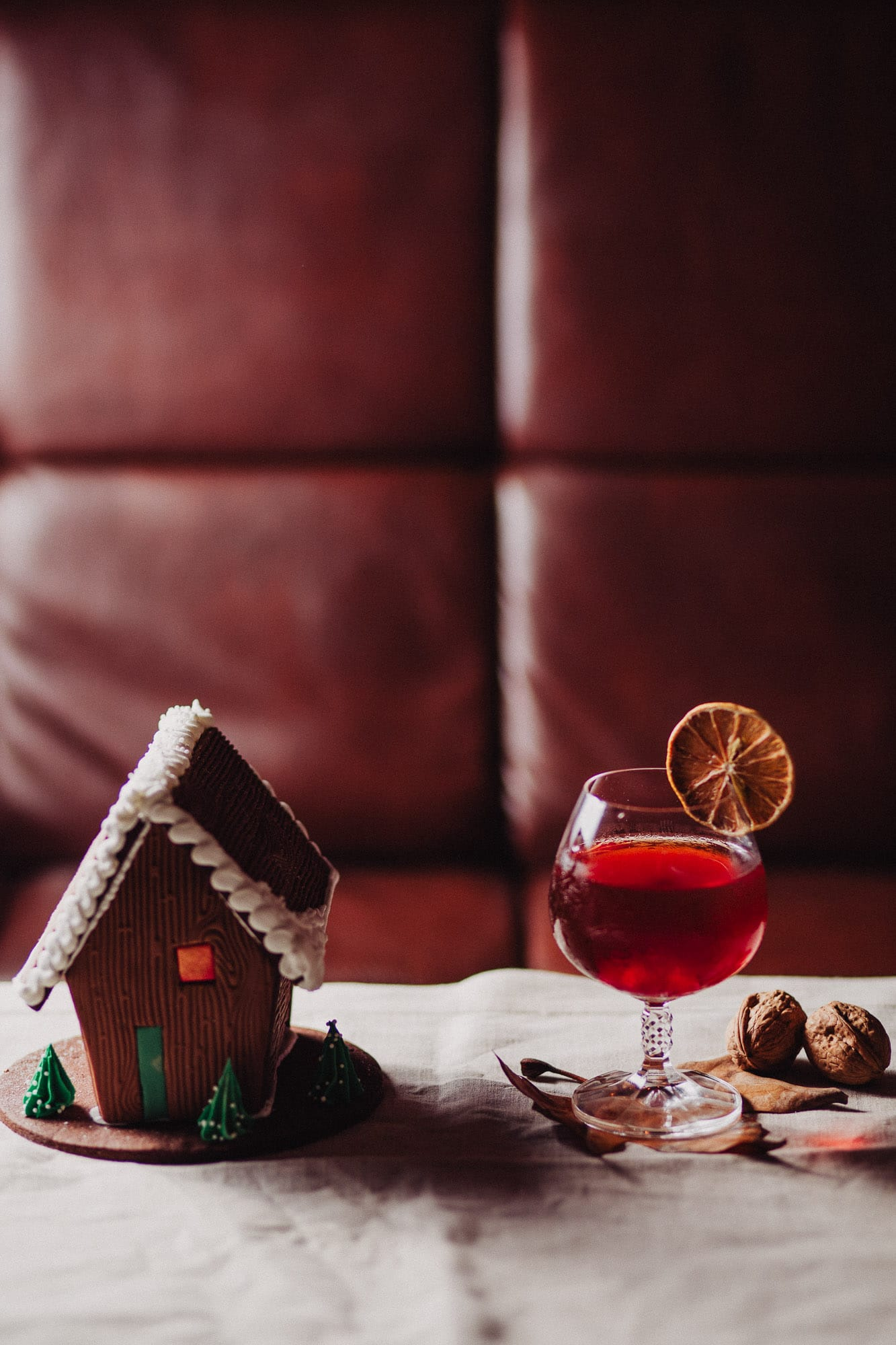 Christmas cocktails and desserts