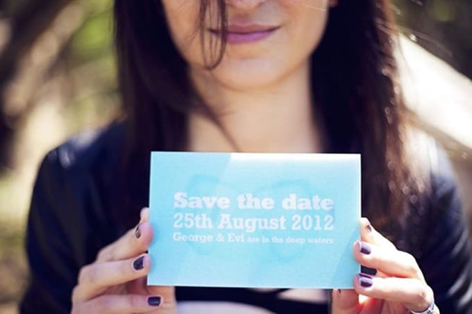 original wedding save the date