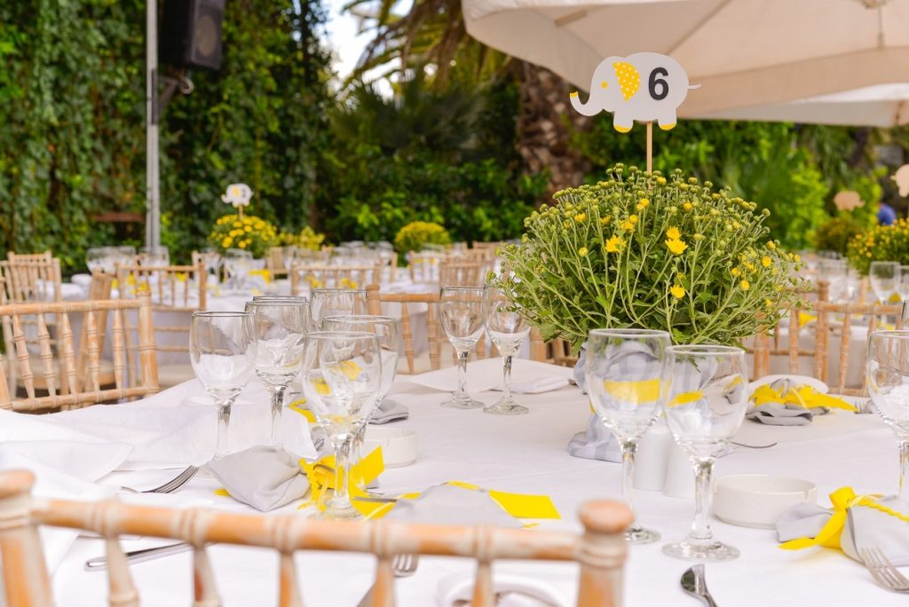 yellow wedding table centerpiece decoration la madrina