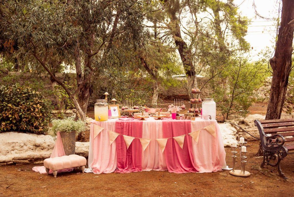 pink wedding wish table decoration la madrina