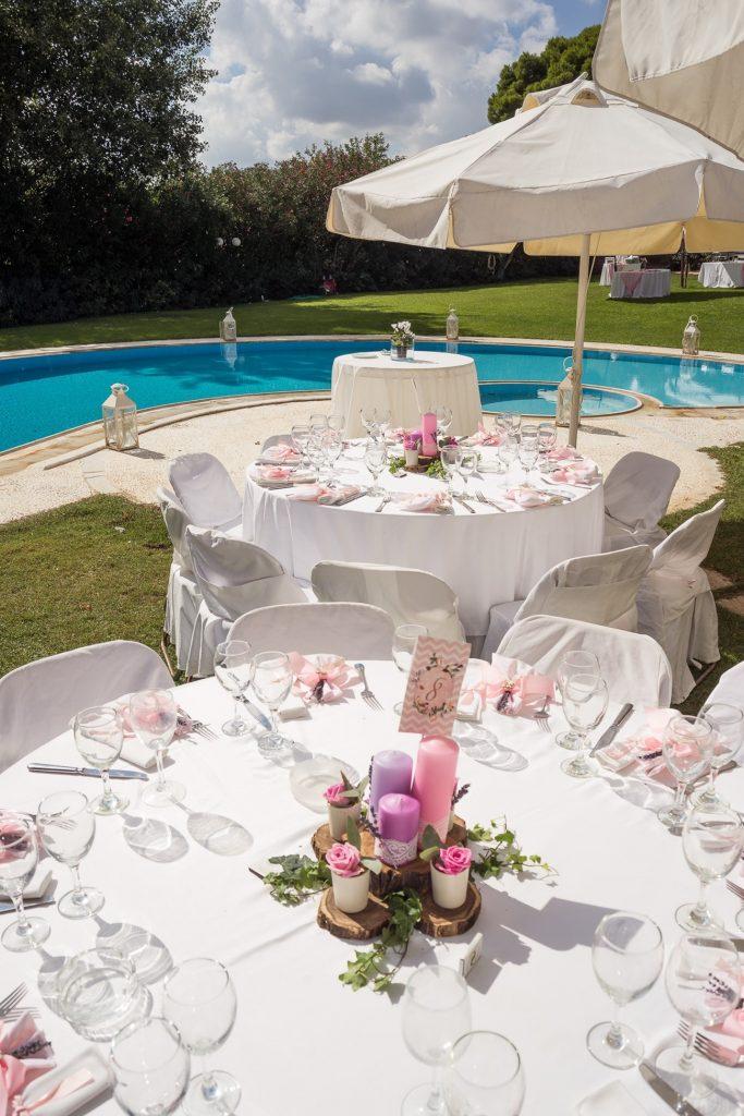 pink wedding table centerpiece decoration la madrina