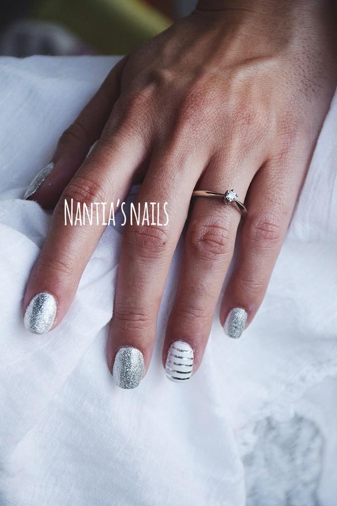 Μεταλλικό νυφικό manicure