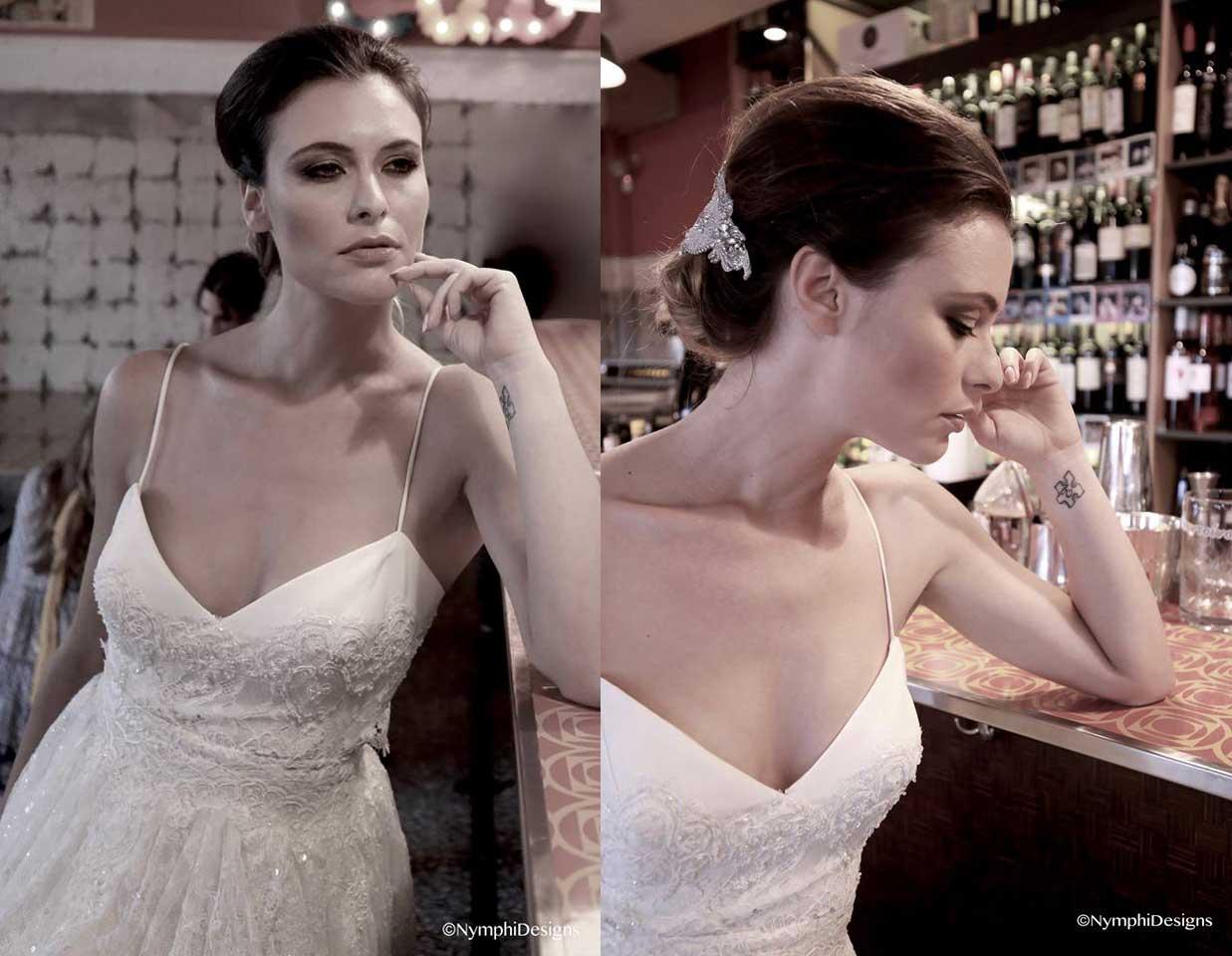 wedding dress with spaggeti straps