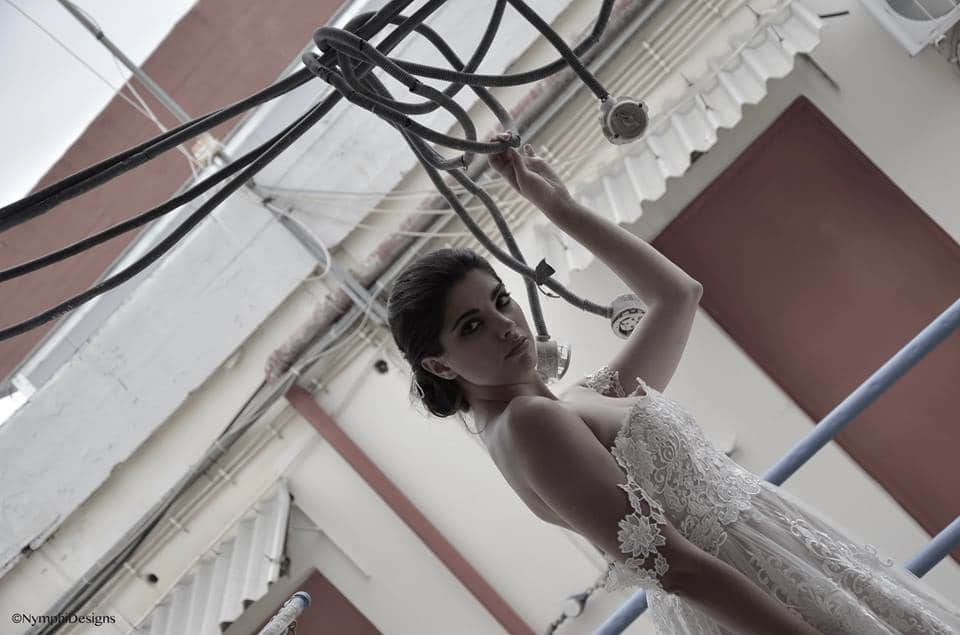straples wedding dress