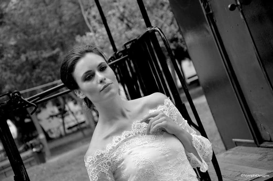 lace wedding dress with shoulders out