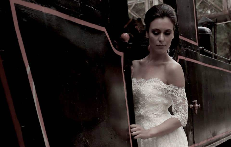 romantic wedding dress with lace