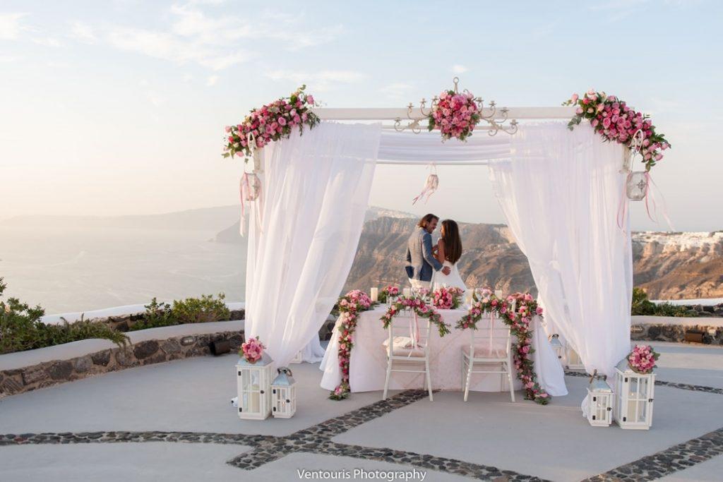 πρόταση γάμου στη σαντορίνη