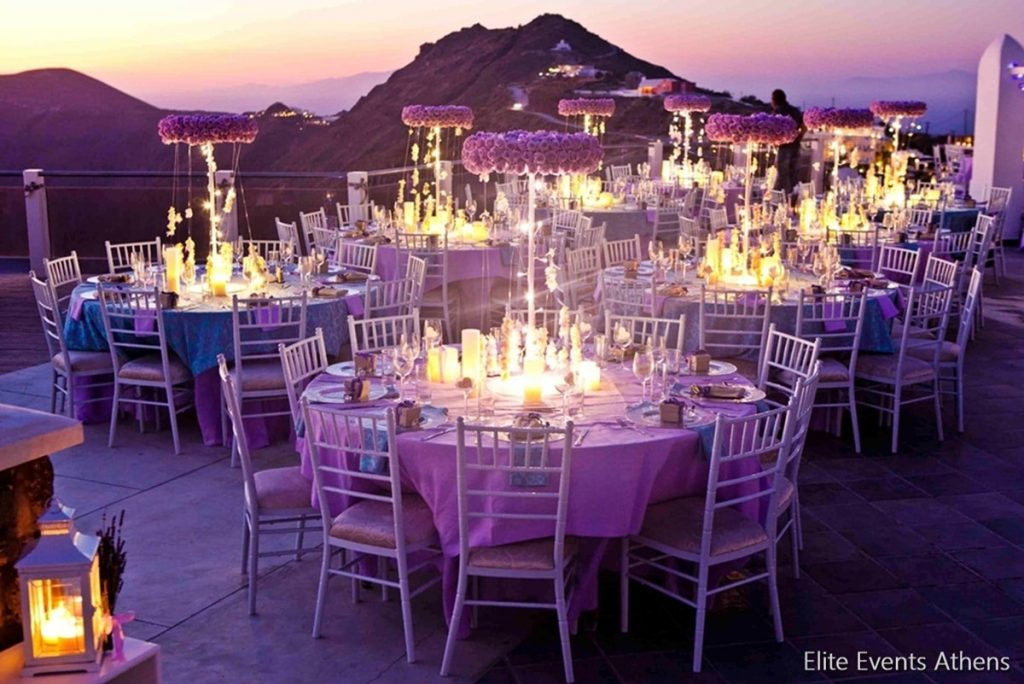 lavender santorini wedding by elite events santorini