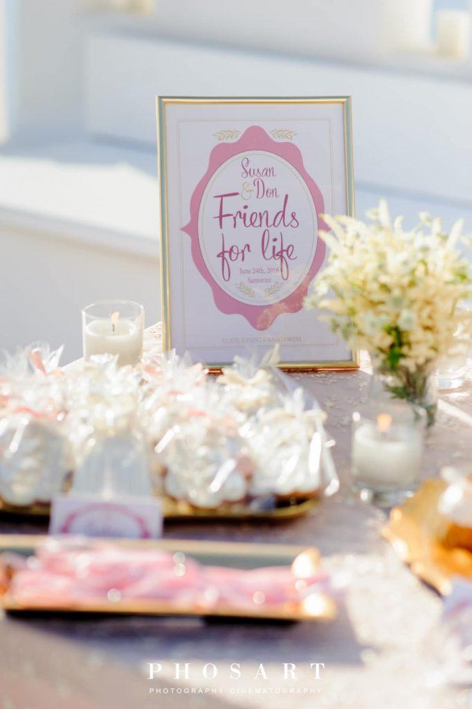 οργάνωση γάμου και ροζ ρομαντικός στολισμός