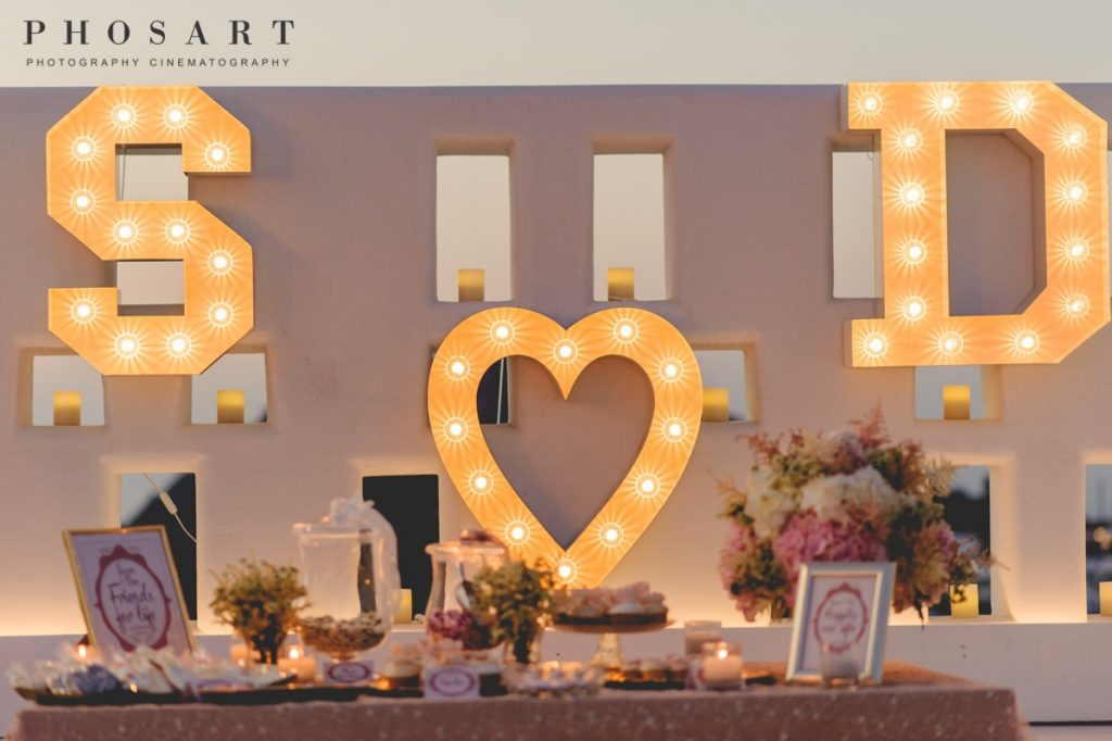 weddinng planning and decoration in santorini