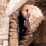 Bride and groom's photoshoot in chios