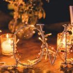 Light wedding sign