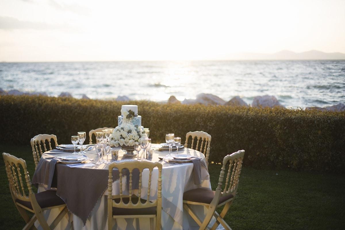Νησιώτικη διακόσμηση γάμου