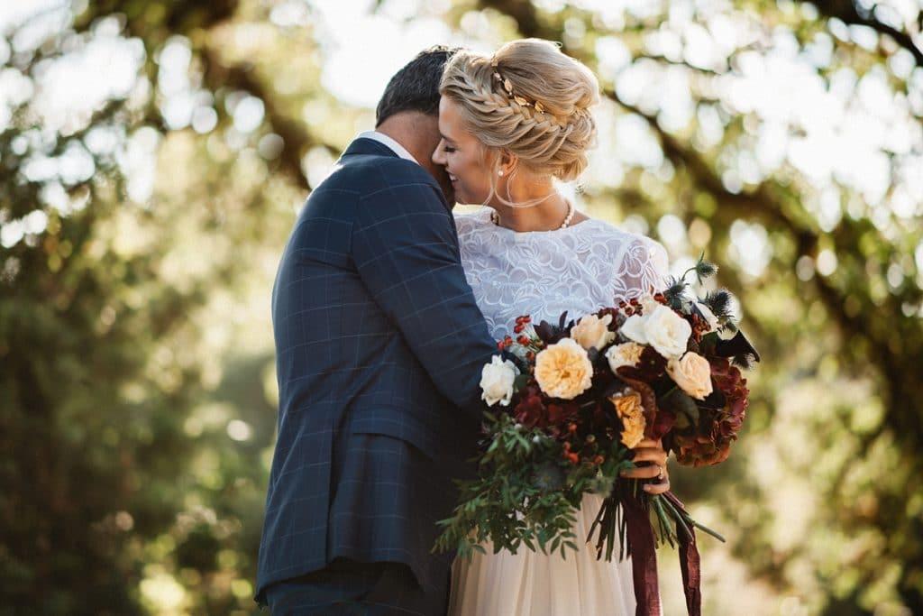 Φωτογράφιση νύφης και γαμπρού στο δάσος Artographer