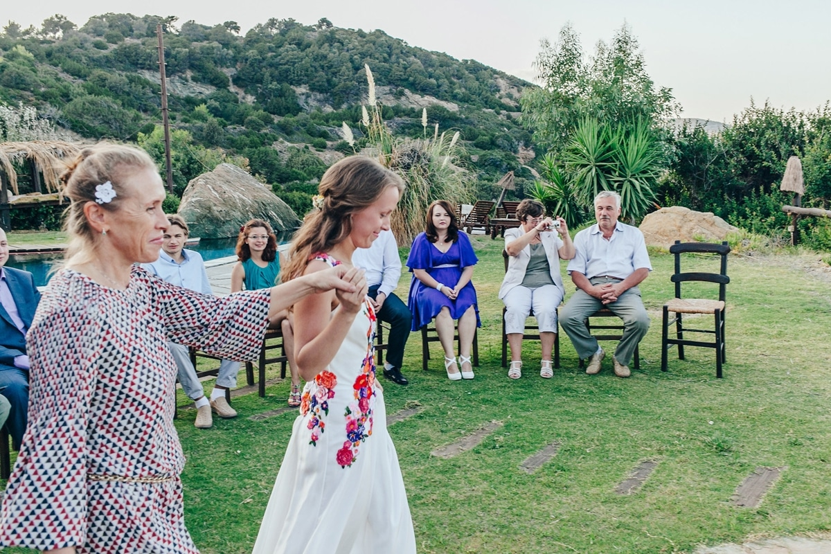 Άφιξη νύφης στην τελετή