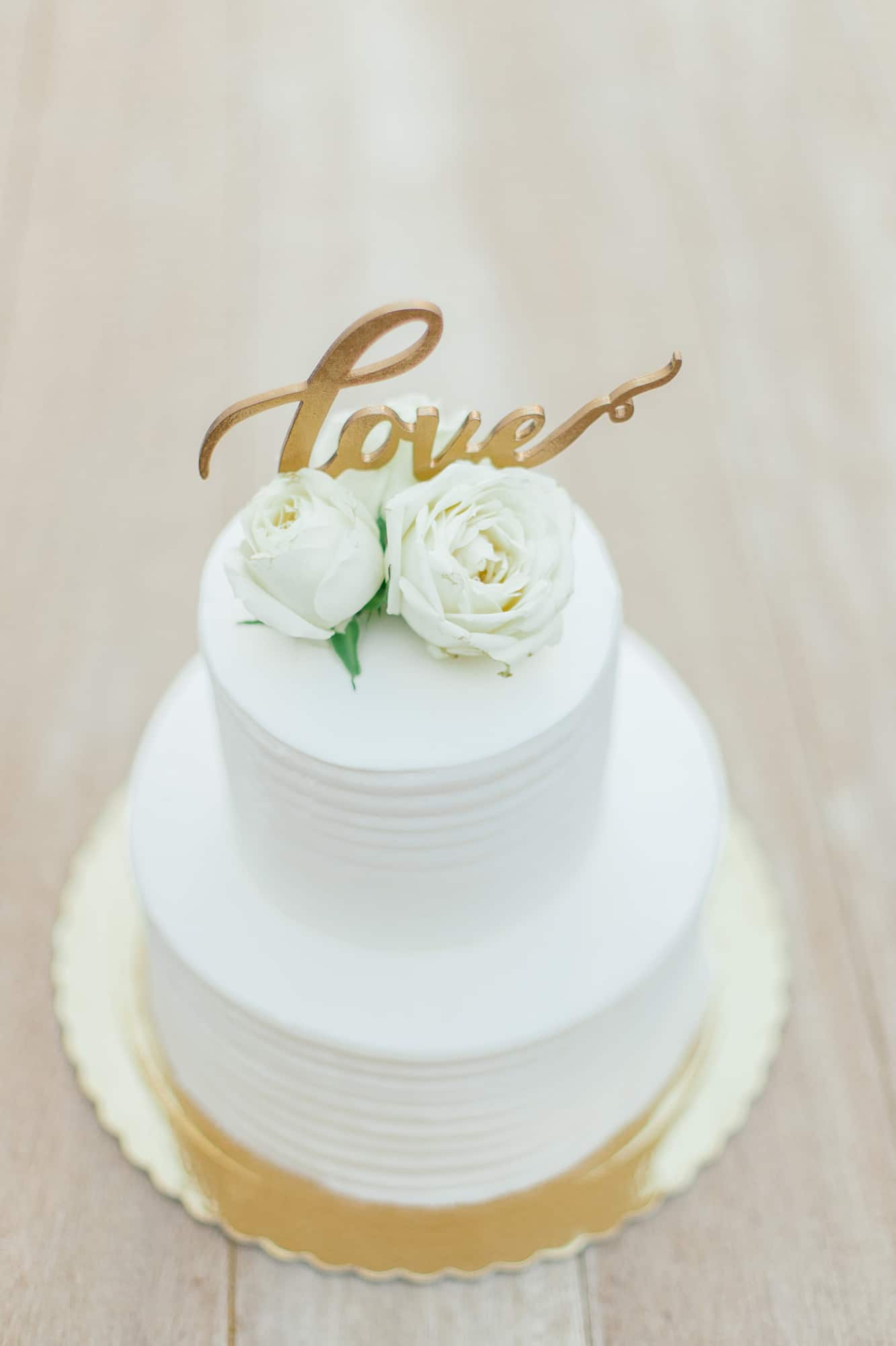 wedding cake and love cake topper