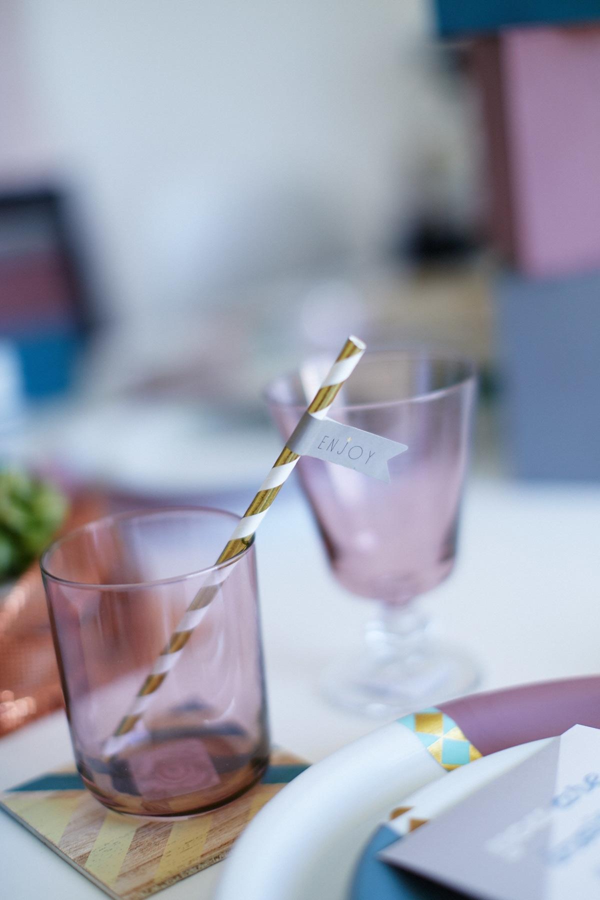 ποτήρια για τη δεξίωση του γάμου la fete