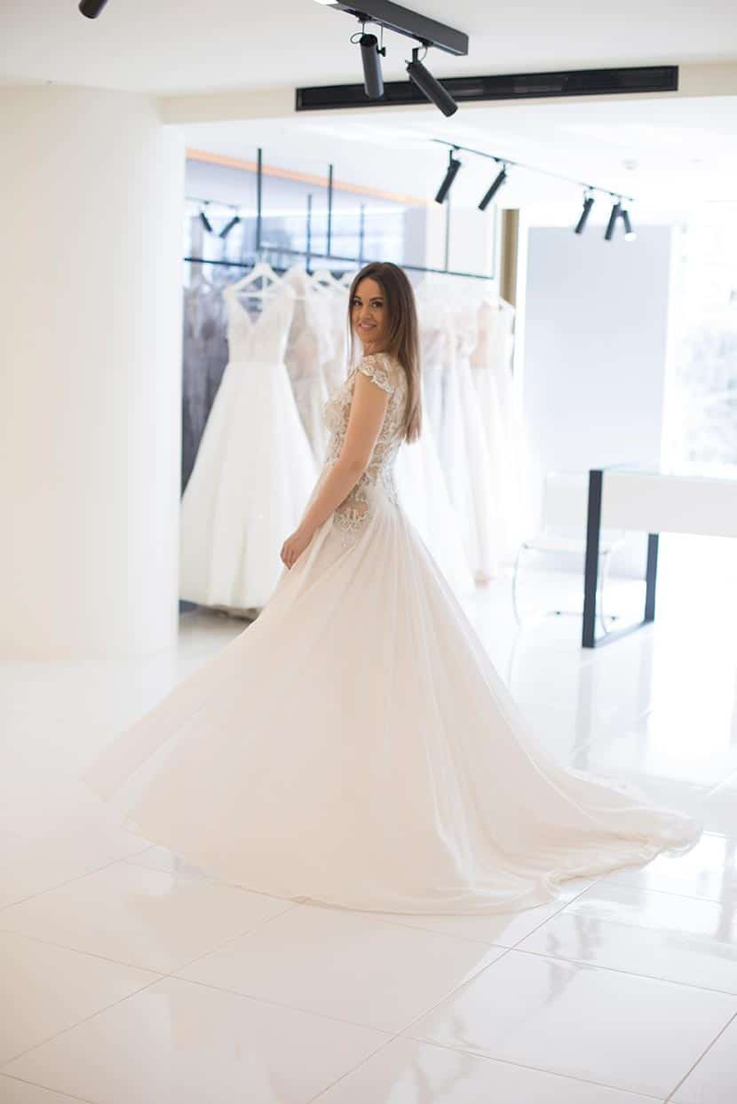 short wedding dress and ethereal skirt with edgy cuts
