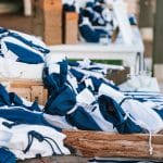 Navy blue colored guest favors