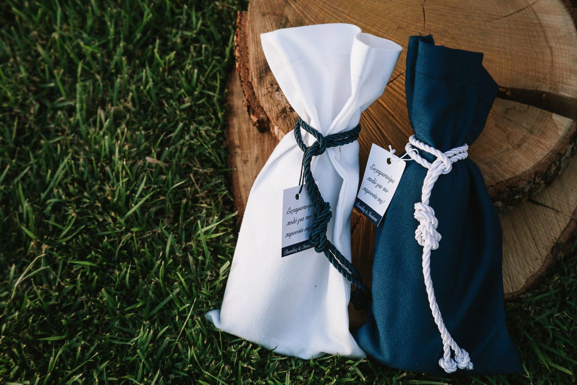 Μπομπονιέρες γάμου σε navy blue χρώμα