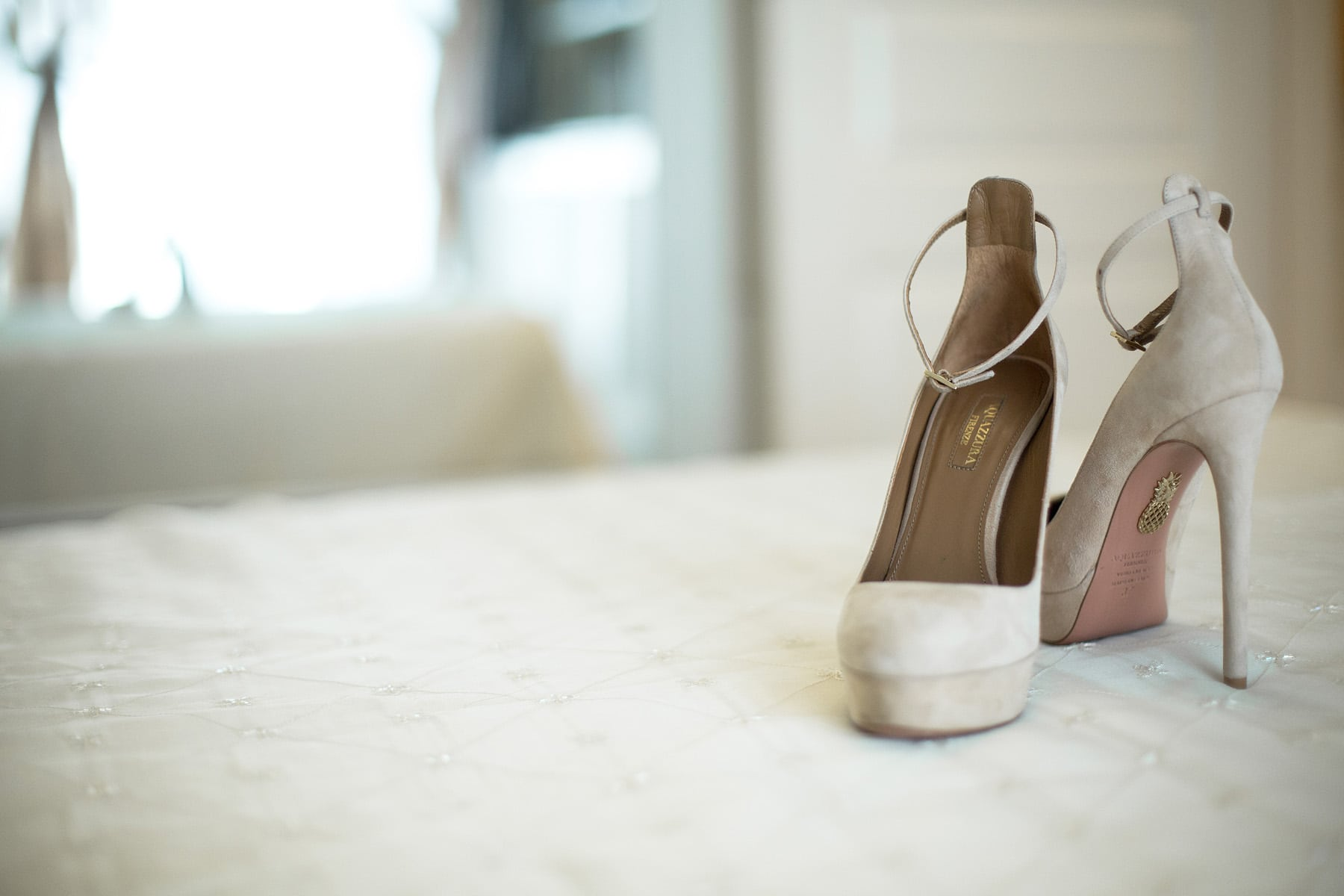 Nude wedding shoes Aqquazura
