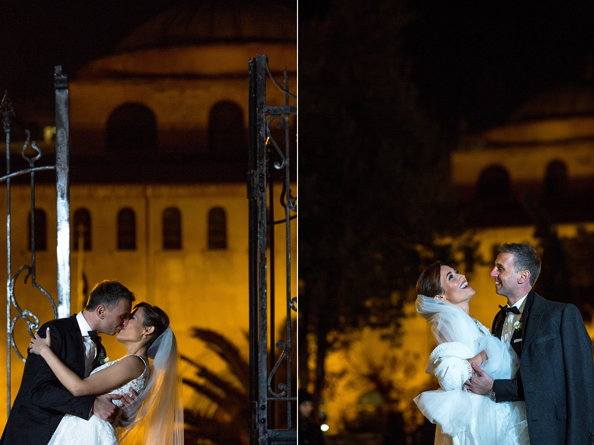 Bride and groom's photoshoot in Thessaloniki